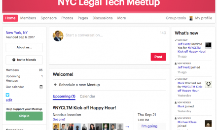 New NYC Legal Tech Meetup!