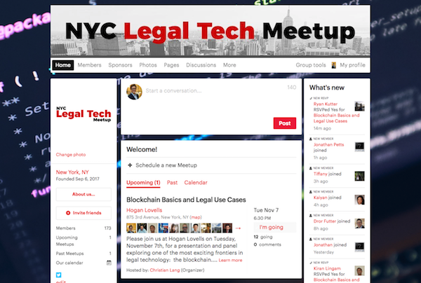 #NYCLTM:  Blockchain Basics and Legal Use Cases  (Nov. 7)
